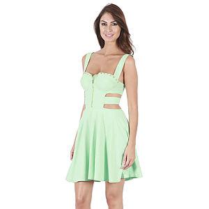 KeiKei Mint Yeşili Krep Elbise
