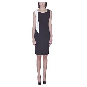 Kraviech Beyaz detaylı Siyah Kraviech Elbise