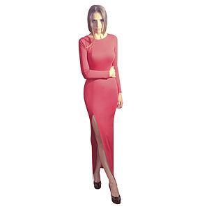 Kraviech Derin Yırtmaçlı Uzun Kraviech Elbise