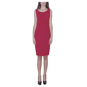 Kraviech Kırmızı Bebe Yaka Sırtı V Elbise