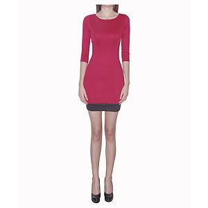 Kraviech Kırmızı Sırtı Açık Uzun Kollu Elbise