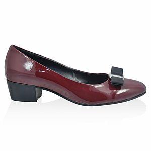 LeSille Bordo Rugan Grogren Fiyonklu Ayakkabı