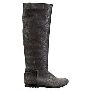 LeSille Gri Suni Deri Basic Çizme