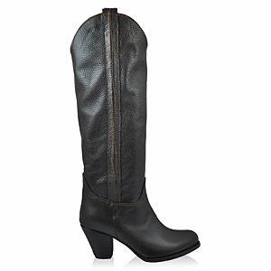 LeSille Kahverengi Kips Deri Dökümlü Çizme