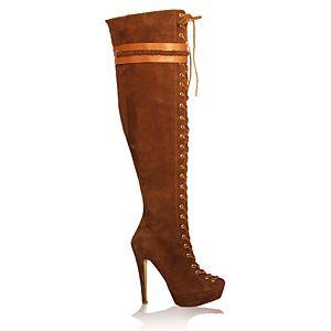 LeSille Kahverengi Süet Biyeli Dizüstü Çizme
