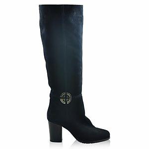 LeSille Koyu Lacivert Süet Bilekte Burch Tokalı Çizme