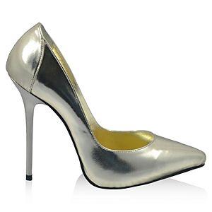 LeSille Lame Ayna Deri Sivri Burun Ayakkabı