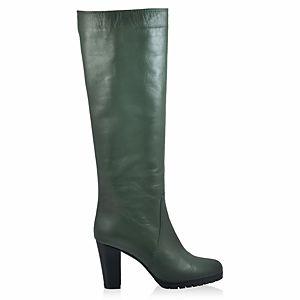 LeSille Nefti Yeşili Slim Kauçuk Tabanlı Çizme
