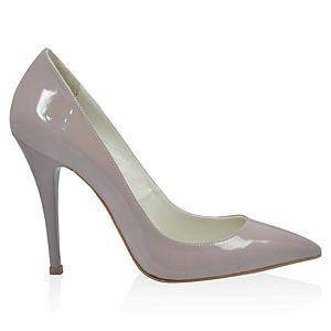 LeSille Pudra Vizon Rugan Stiletto Ayakkabı