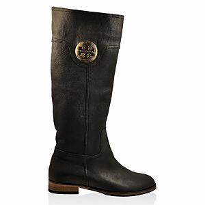 LeSille Siyah Deri Burch Tokalı Çizme
