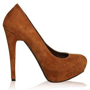 LeSille Sütlükahve Süet Düz Gizli Platformlu Ayakkabı