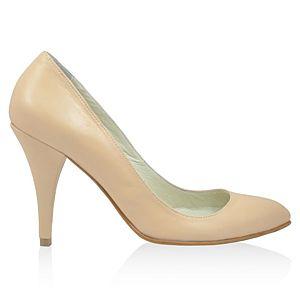 LeSille Tenrengi Deri Alçak Stiletto Ayakkabı