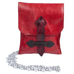 Deriart Kırmızı Ateş Tasarım Deri Çanta