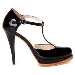 Duygu Ergör Ballando Siyah Deri Topuklu Ayakkabı