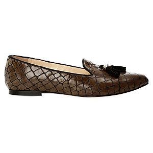 Duygu Ergör Kroko Avare Loafer Ayakkabı