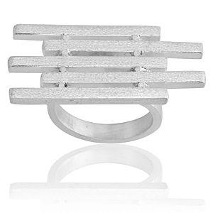 Esquemari Gümüş Çubuk Yüzük