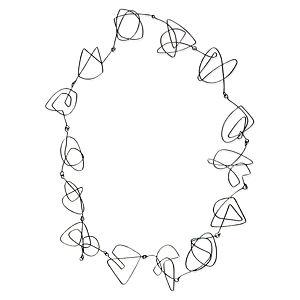 Esquemari Gümüş Spiral Kolye