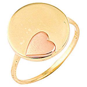 FİEMMA Kalpli Plaka Altın Yüzük