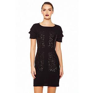 Aysquel Kolları Kısa Siyah Body Elbise