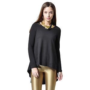 Ben&Sen Asimetrik Siyah Renk Bluz