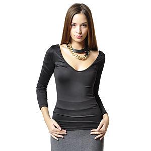 Ben&Sen Sırtı V Siyah Renk Bluz