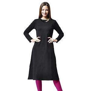 Ben&Sen Siyah Renk Uzun Elbise