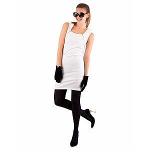 Berla Beyaz Fermuarlı Elbise