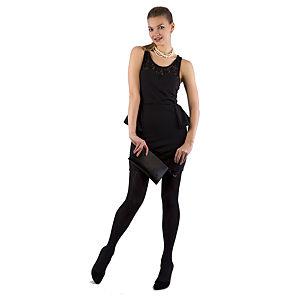 Berla Siyah Peplum Elbise