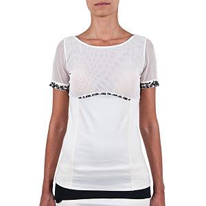 Berna Ulutaş İpek Tül Swarovski / Beyaz Mercan İşli Bluz