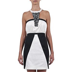 Berna Ulutaş Swarovski / Beyaz Mercan İşli Geometrik Elbise