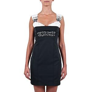 Berna Ulutaş Swarovski / Beyaz Mercan İşli Kokteyl Elbise