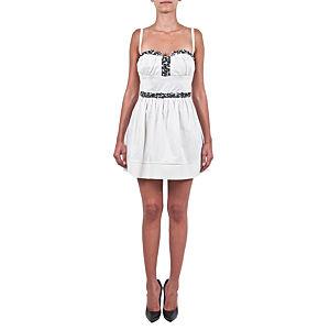 Berna Ulutaş Swarovski / Mercan İşli Beyaz Elbise