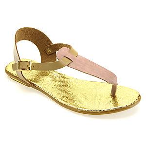 Colour Steps Altın Rengi Parmak Arası Özel Tasarım Sandalet