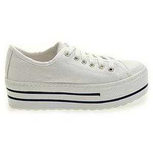 Colour Steps Beyaz Topuklu Spor Ayakkabı