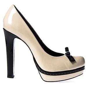 Colour Steps By Hakan Akkaya White Zenne  Topuklu Ayakkabı