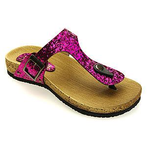 Colour Steps Candy Pembe Simli Sandalet