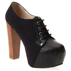 Colour Steps Double Black Victoria Bootie