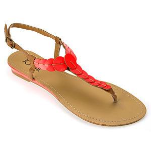 Colour Steps Flowee Neon Turuncu  Sandalet