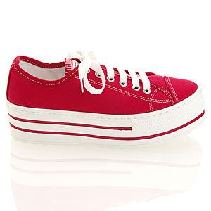 Colour Steps Kırmızı Topuklu Spor Ayakkabı