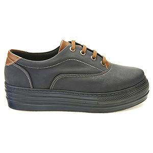 Colour Steps Laci-Kahve Topuklu Spor Ayakkabı