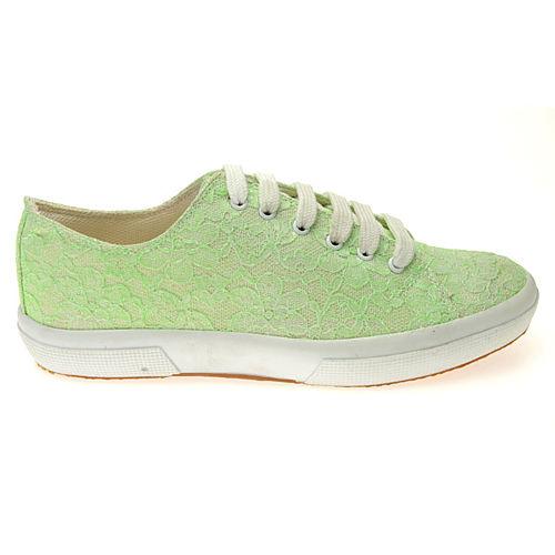 Colour Steps Neon Yeşil Dantel Detaylı Spor Ayakkabı