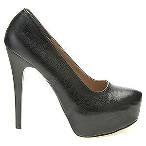 Colour Steps Platform Topuklu Siyah Ayakkabı