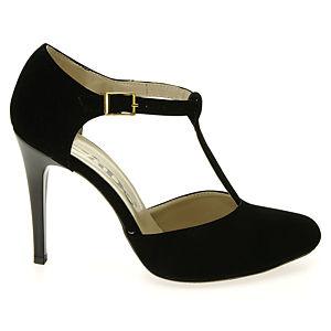 Colour Steps Siyah Bilekten Bağlı Ayakkabı