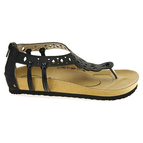 Colour Steps Siyah Desenli Sandalet