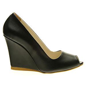 Colour Steps Siyah Dolgu Topuk Ayakkabı