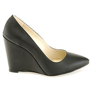 Colour Steps Siyah Dolgu Topuk Tasarım Ayakkabı