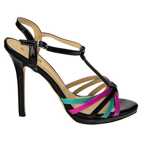 Colour Steps Siyah Fuşya Bantlı Ayakkabı