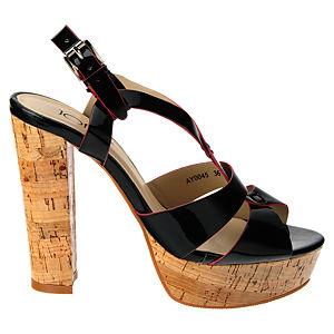 Colour Steps Siyah Mantar Topuklu Ayakkabı