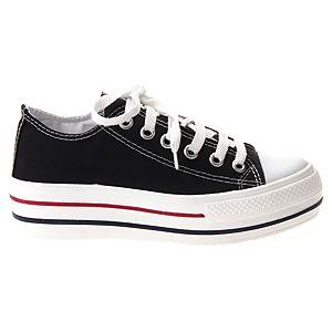 Colour Steps Siyah Topuklu Spor Ayakkabı
