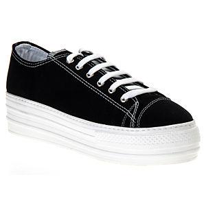 Colour Steps Siyah Yüksek Topuk Spor Ayakkabı